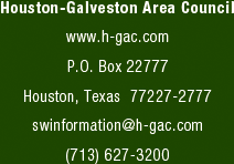 Houston-Galveston Area Council - www.h-gac.com  - P.O. Box 22777 - Houston, Texas - 77227-2777 - swinformation@h-gac.com - (713) 627-3200